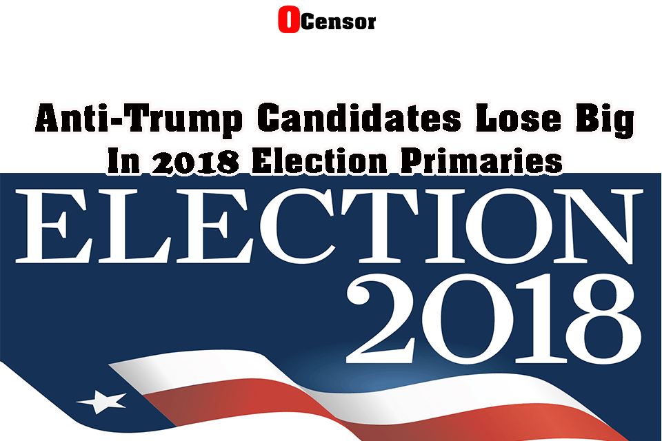 Anti-Trump Candidates Lose Big in 2018 election Primaries