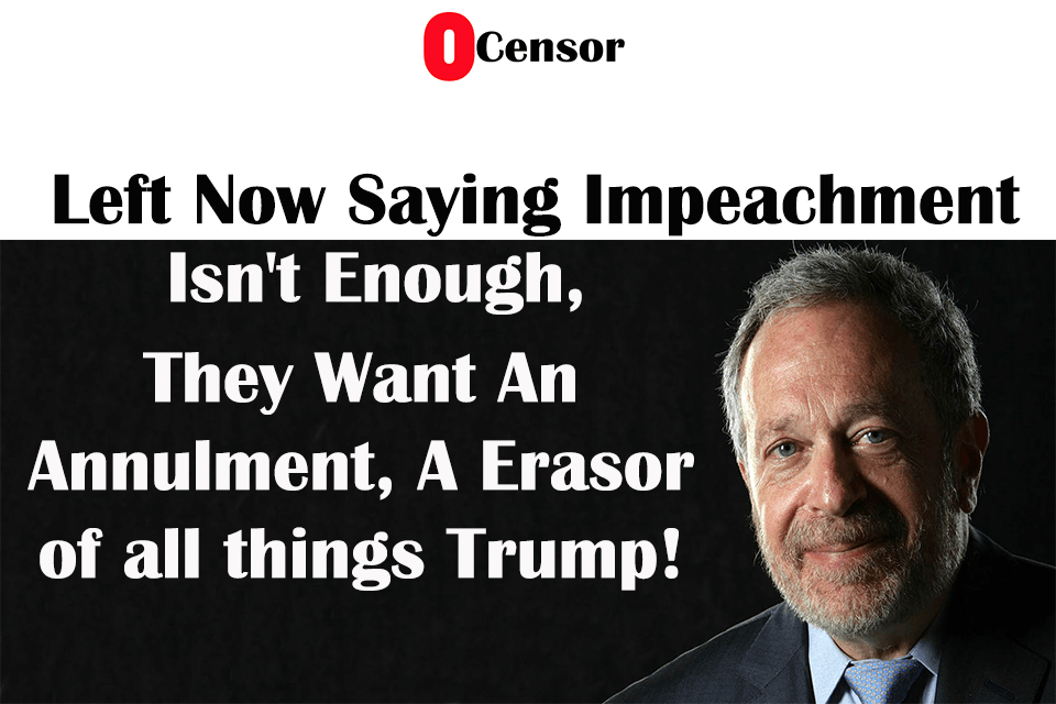 Left Now Saying Impeachment Isn't Enough, They Want An Annulment