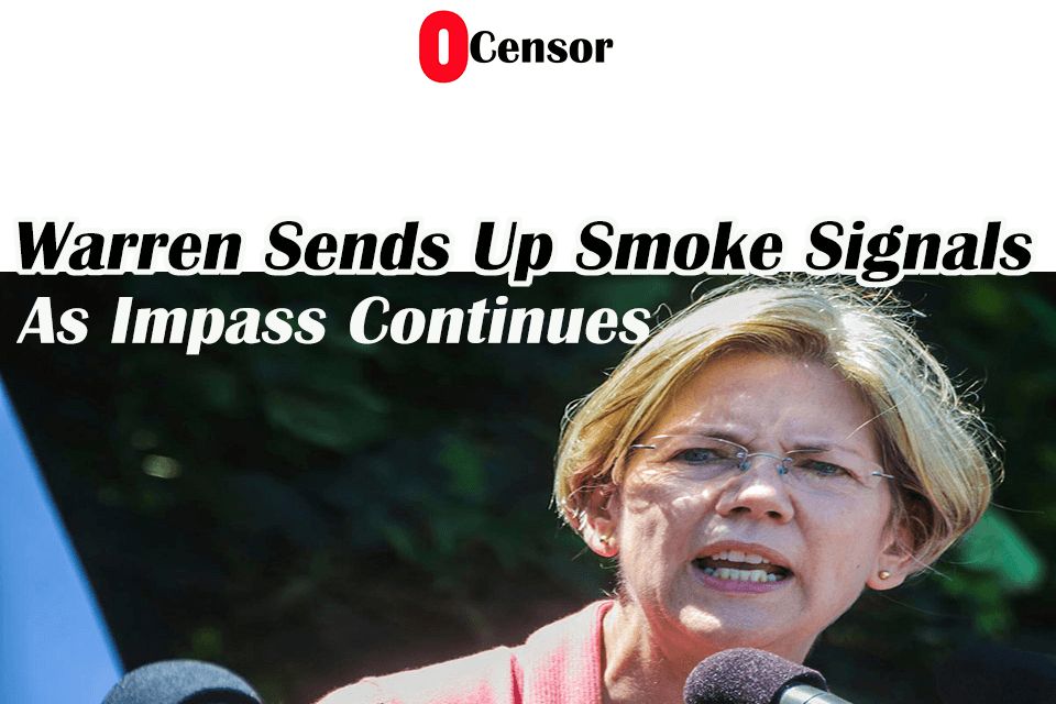 Warren Sends Up Smoke Signals As Impass Continues
