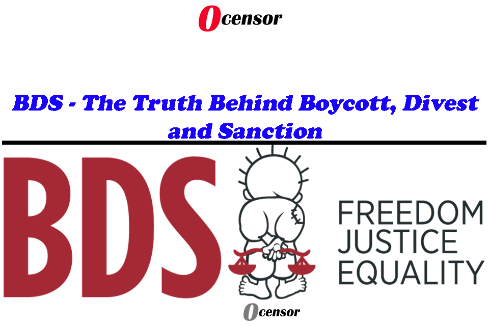 BDS – The Truth Behind Boycott, Divest and Sanction