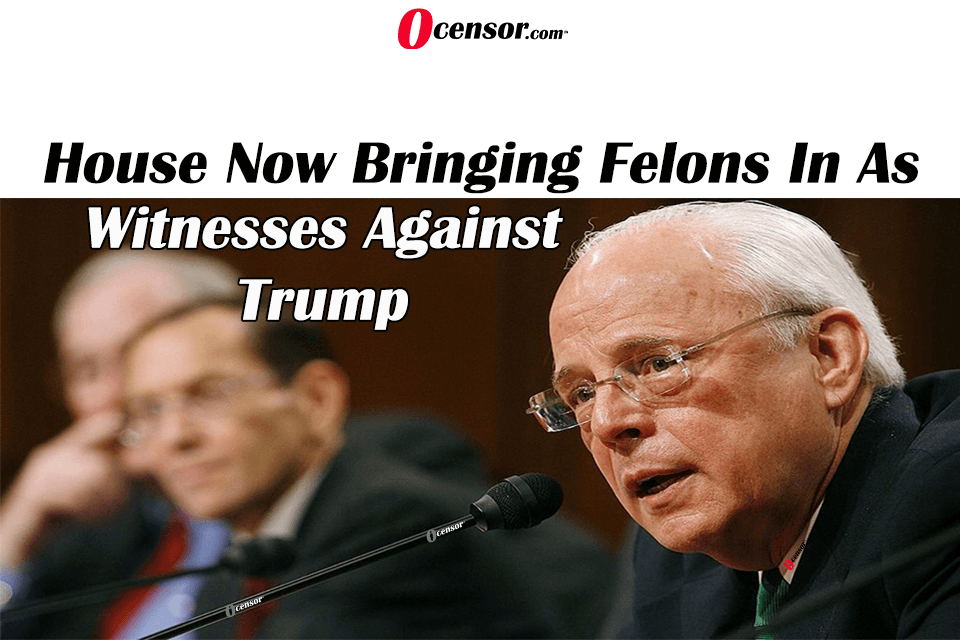 House Now Bringing Felons In As Witnesses Against Trump
