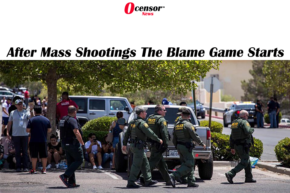 After Mass Shootings The Blame Game Starts