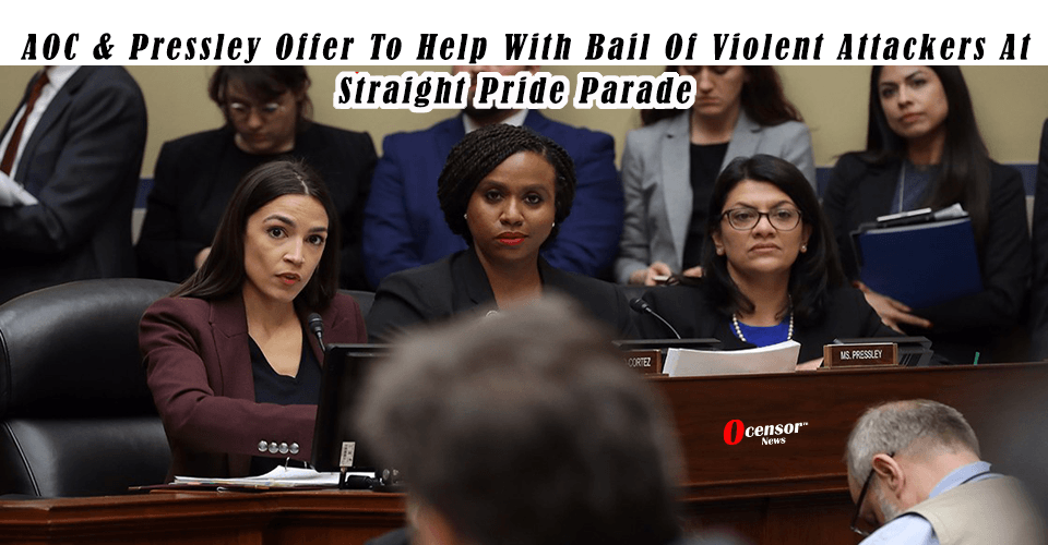 AOC & Pressley Offer To Help With Bail Of Violent Attackers At Straight Pride Parade